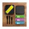 Набор из 3 столовых приборов в футляре MB Pocket Color, желтый