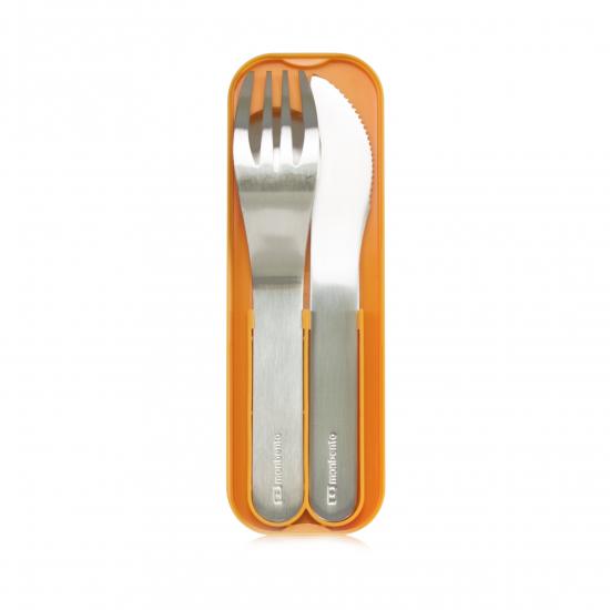 Набор из 3 столовых приборов в футляре MB Pocket, оранжевый