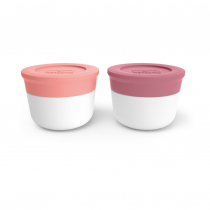Соусницы с крышкой малые MB Temple Pink Flamingo и Blush,  2 шт