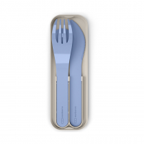 Набор из 3 столовых приборов в футляре MB Pocket Color Blue Infinity